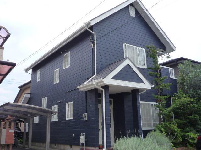 ブルー 外壁塗装