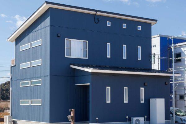 外壁塗装 ブルー