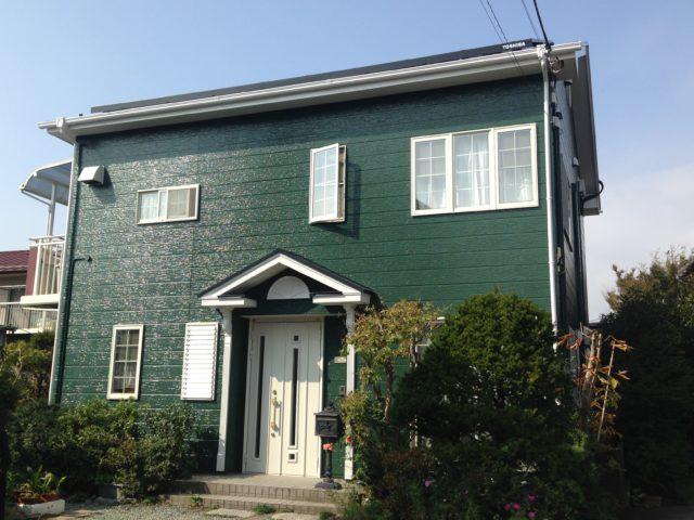 グリーン 外壁塗装