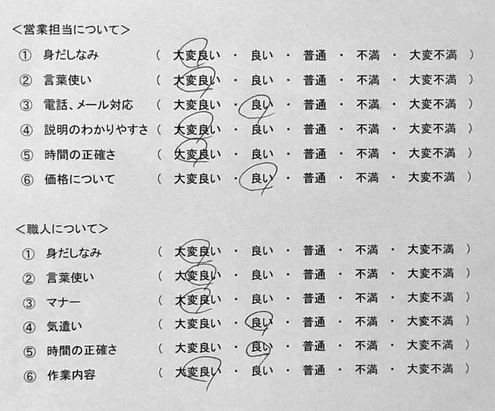 三島市 S様の声の評価