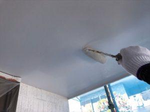 軒裏上塗り