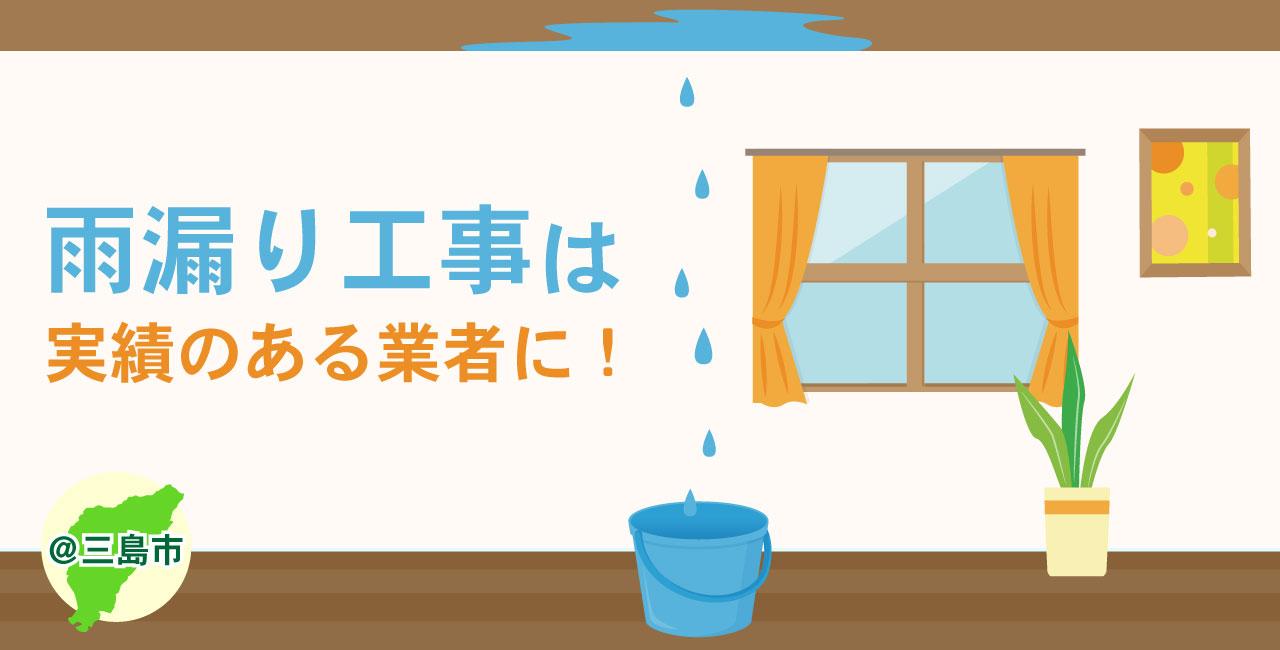 三島市の雨漏り修理